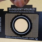 eloquent metal business card for photographers