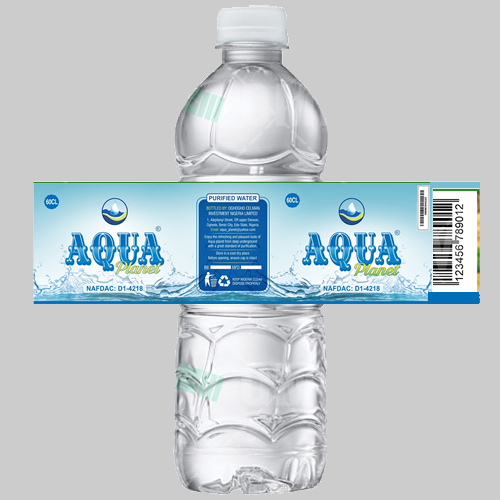 bottle water label printing lagos nigeria