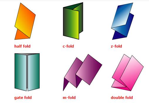 fold types brochure printing