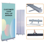 roll up banner size